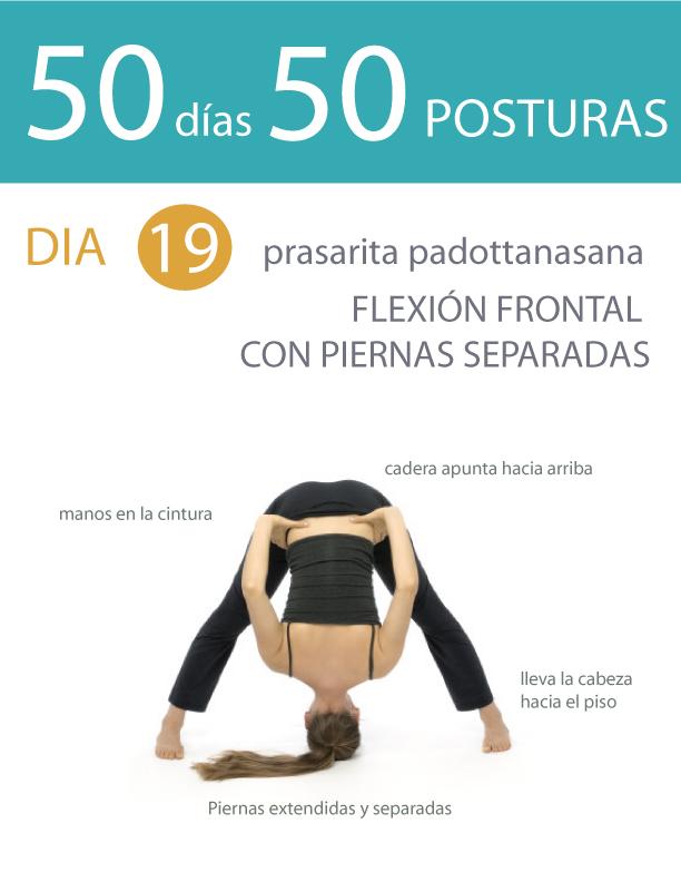50 días 50 posturas. Día 19. Flexión frontal con piernas separadas ... 33723223962e