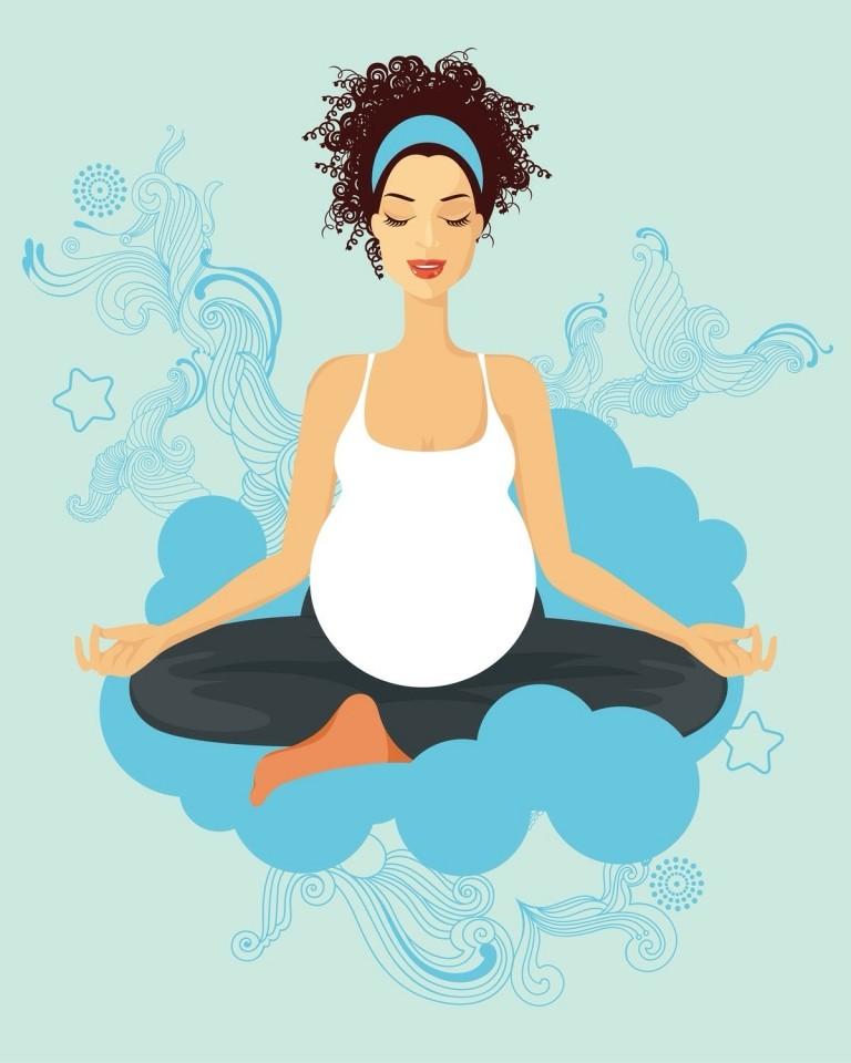 Yoga para embarazadas. - posturas -