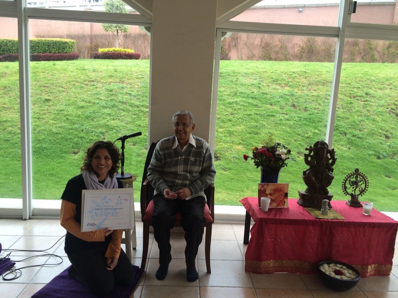 Certificación 2015 16-03-2017 - Certificado de Vinyasa Krama por Twameva Yoga y firmado por S. Rama Swami